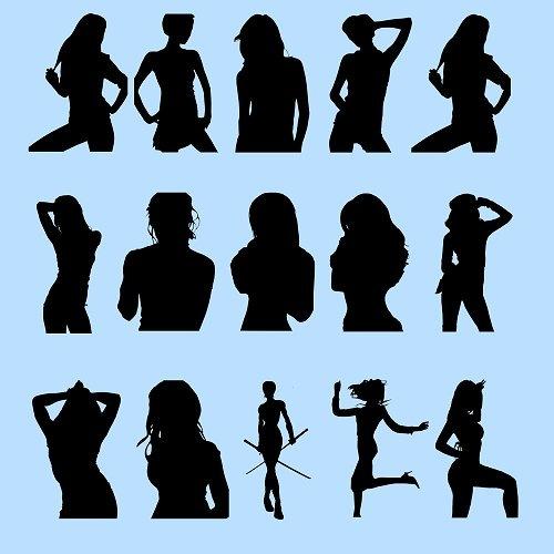 Женские силуэты