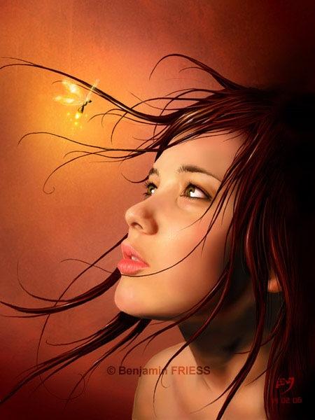 цифровой портрет девушки