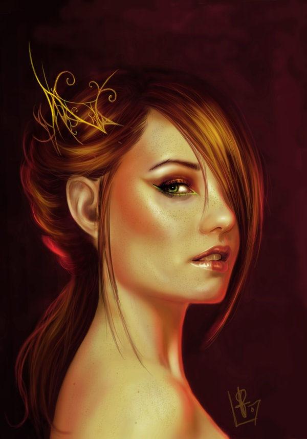 красочный портрет