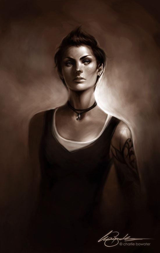 портрет в коричневых тонах