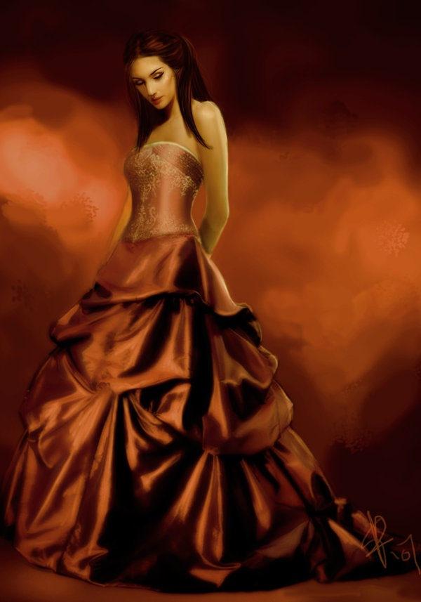 девушка в вечернем платье