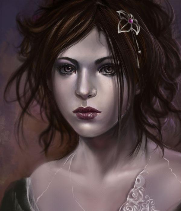 портрет в бледных оттенках