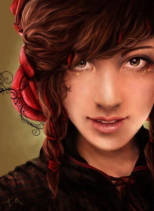 стильный цифровой портрет