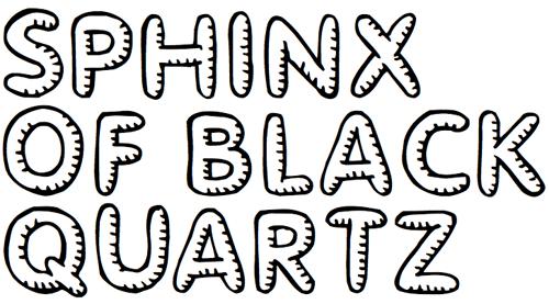 Ребристый шрифт