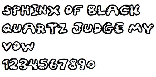 Шрифт-зарисовки