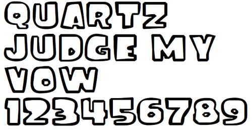 Полный забавный шрифт
