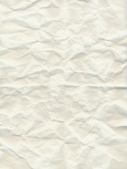 Белая мятая бумага