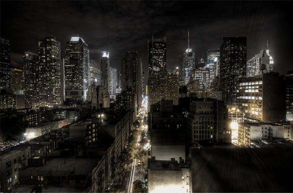 хдр фото ночного города