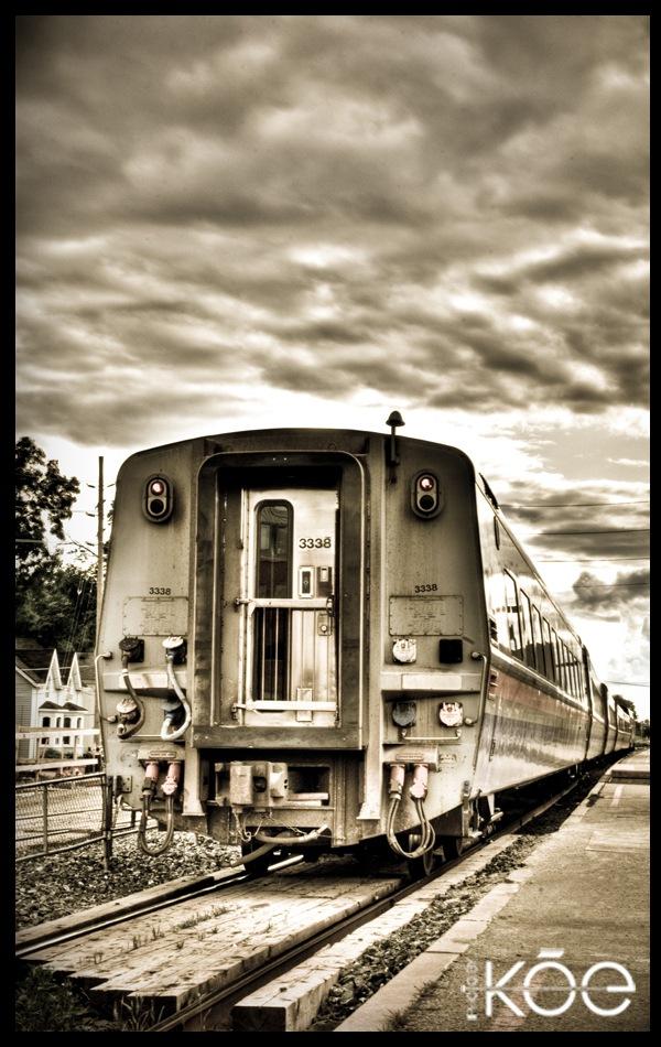 хдр фото поезда