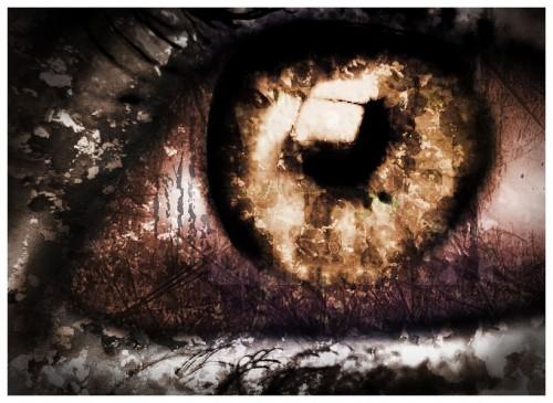 глаз в стиле гранж
