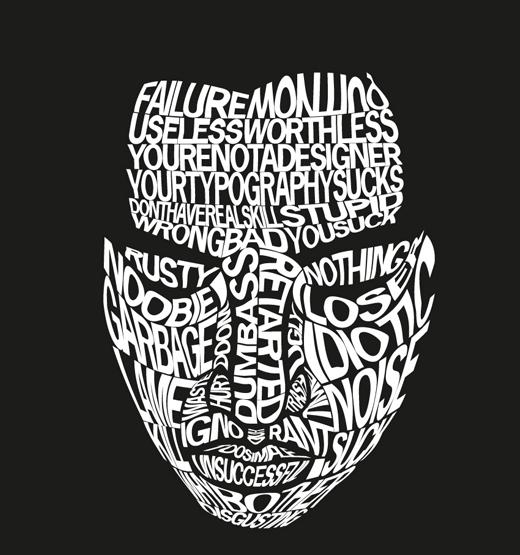 лицо из шрифтов