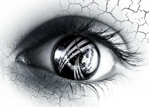 черно-белые глаза