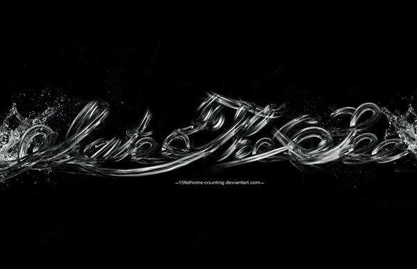 Креативные шрифты из воды