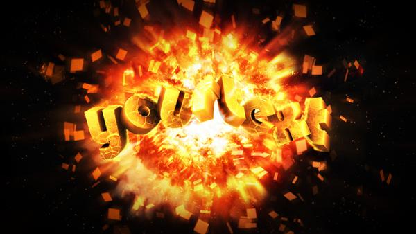 Взрывная типографическая волна