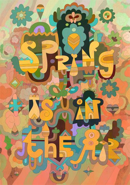 Весенний постер
