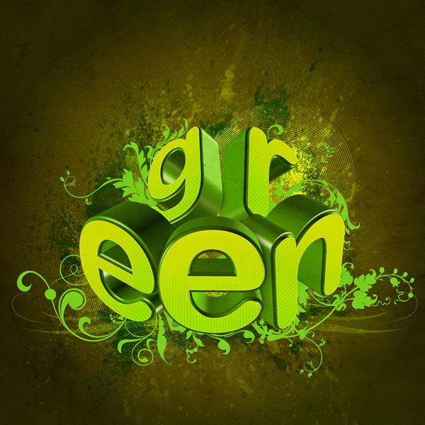 насыщенные зеленые краски