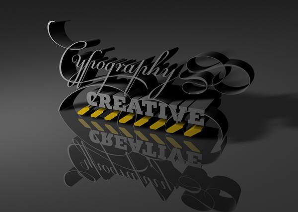 глянцевая типографика
