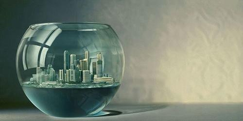 город в аквариуме