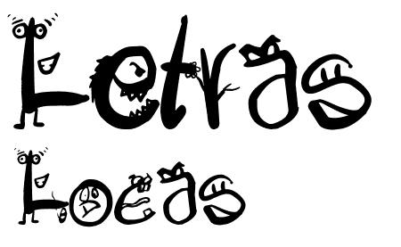 Шрифт в виде монстров