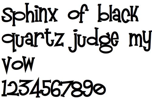 Разноразмерный шрифт