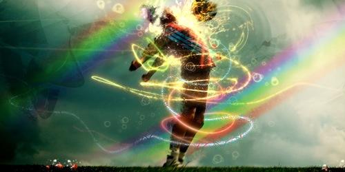 сияющие вихри радуги