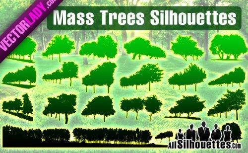 Густые деревья