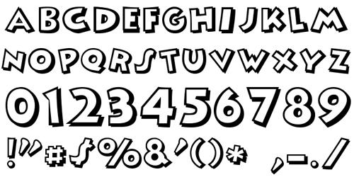 мультипликационный шрифт