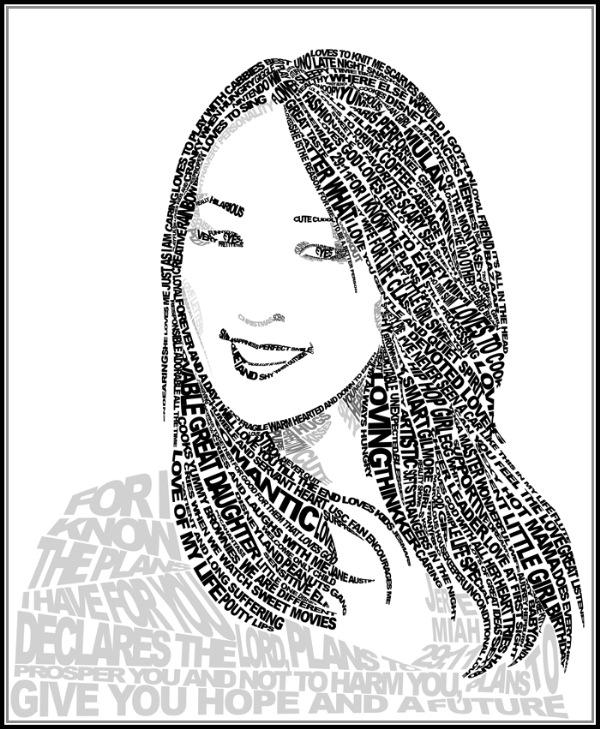 типографическая девушка