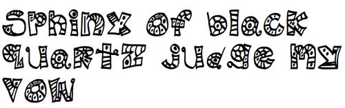 Проиллюстрированный шрифт