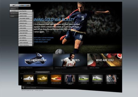 сайт компании Nike