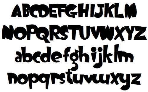 Жирный дутый шрифт