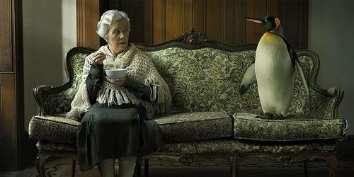 фотоманнипуляция с пингвином