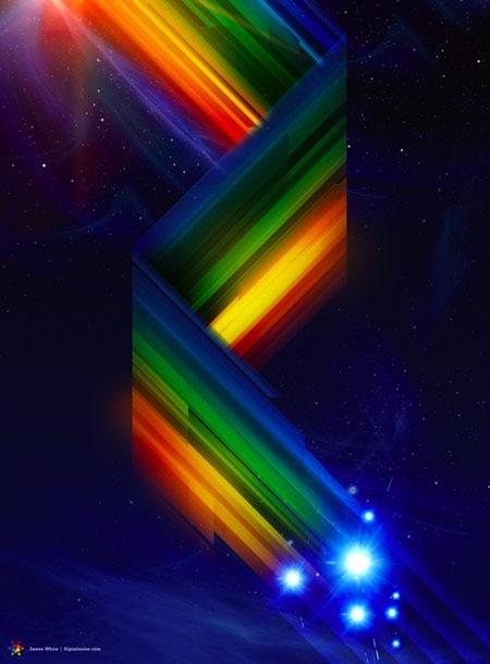 ретрофутуристическая радуга