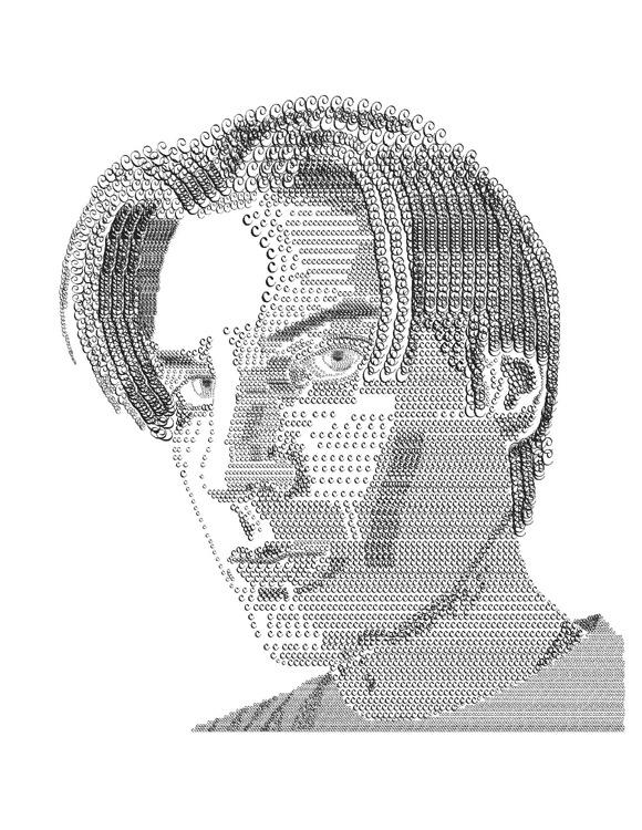 типографический портрет парня