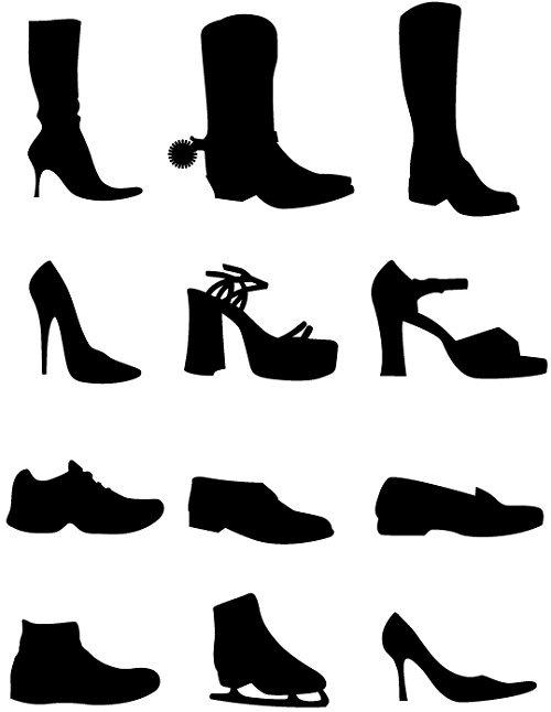 Силуэты обуви