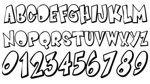 Обведенный шрифт с наклоном