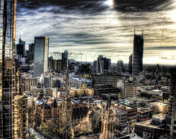 хдр вид города