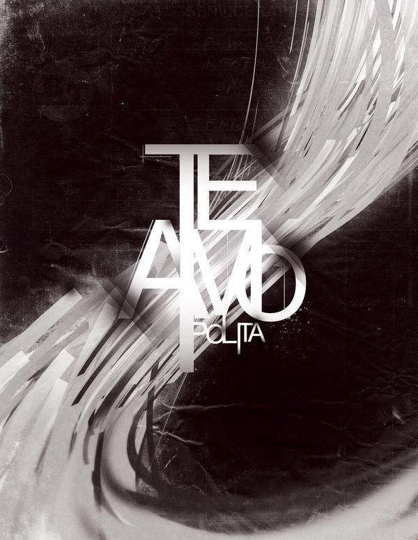 Типографический постер в серых оттенках