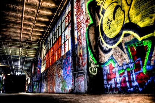 хдр стена в граффити