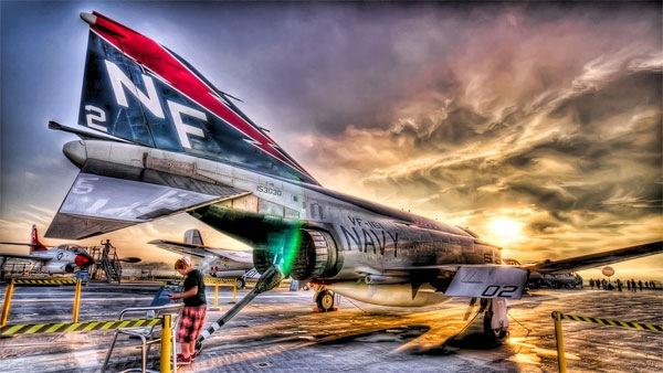хдр фотография самолета