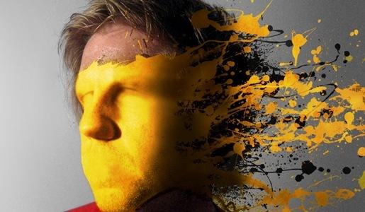 Туториал с использованием эффекта брызг краски
