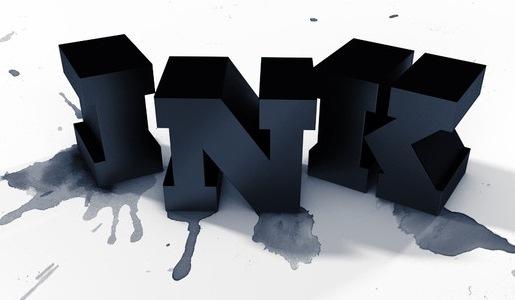 Пример 3D типографики и брызг