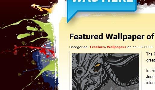 Дизайн сайта с элементами потеков краски