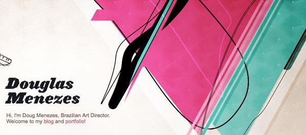 яркие наброски в дизайне сайта