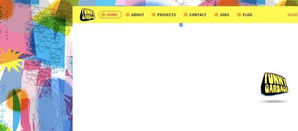 яркие дудлы на фоне сайта
