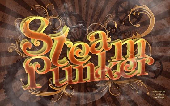 элементы дыма и узоров в 3D типографическом постере