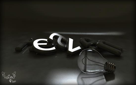 3d-типографика в дизайне