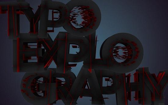 креативные 3D шрифты