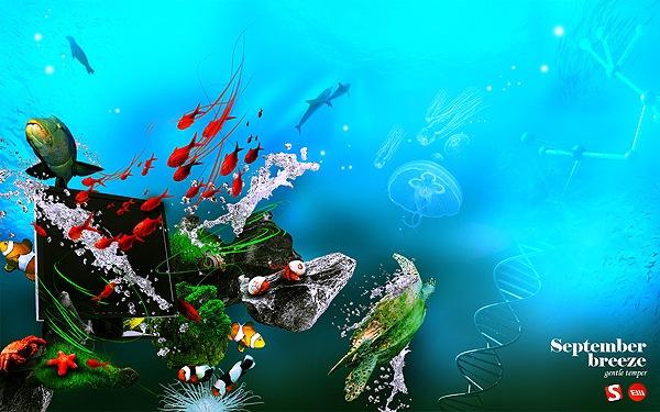 дизайн на морскую тематику