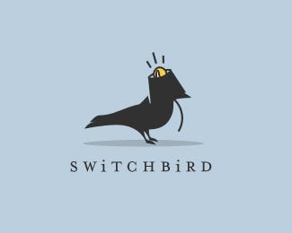 забавная птица в лого
